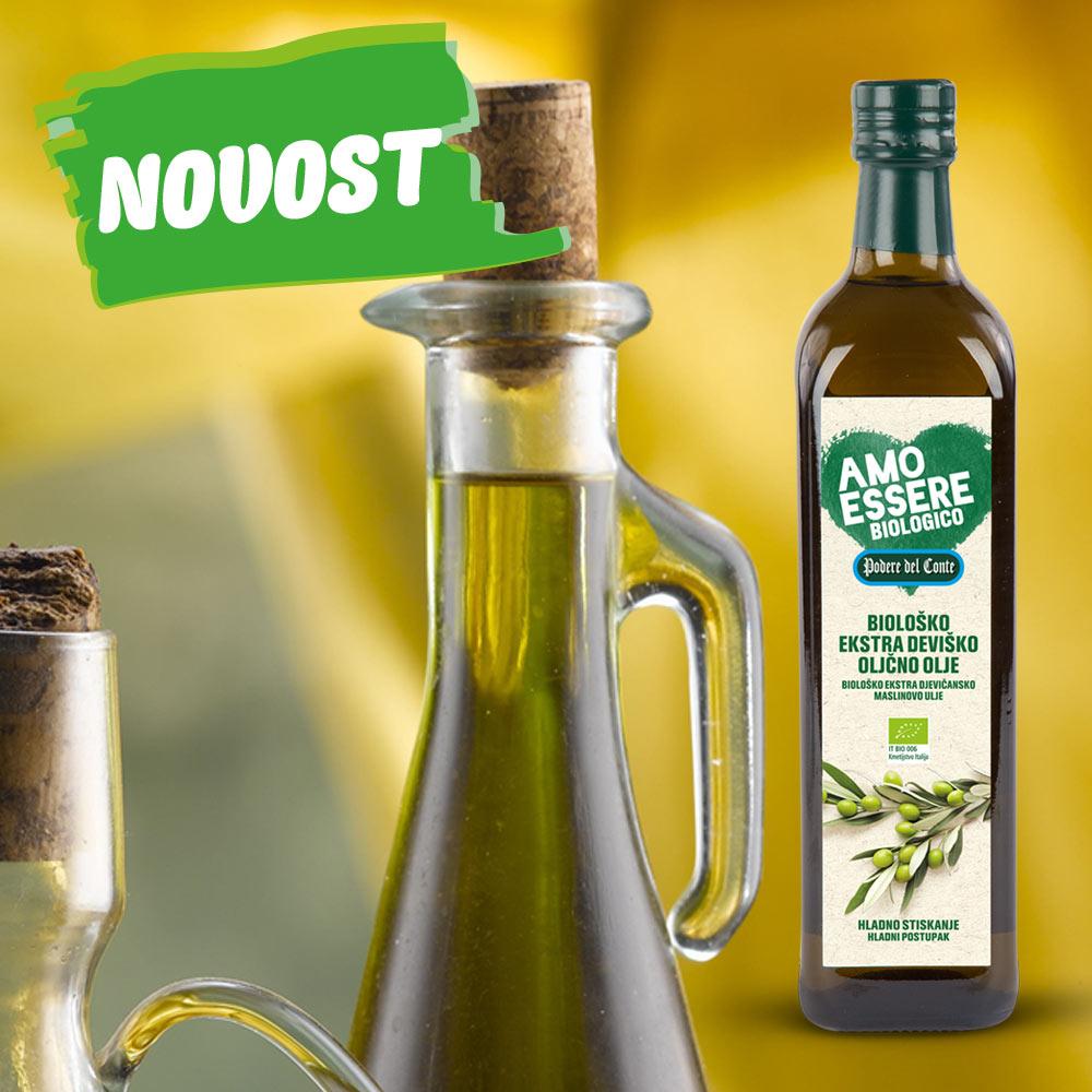 BIO ekstra deviško oljčno olje, hladno stiskano, 750 ml
