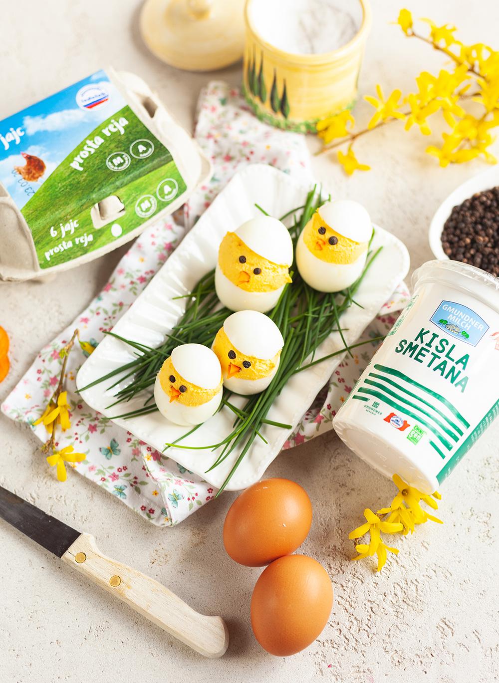 Velikonočna nadevana jajca-piščančki