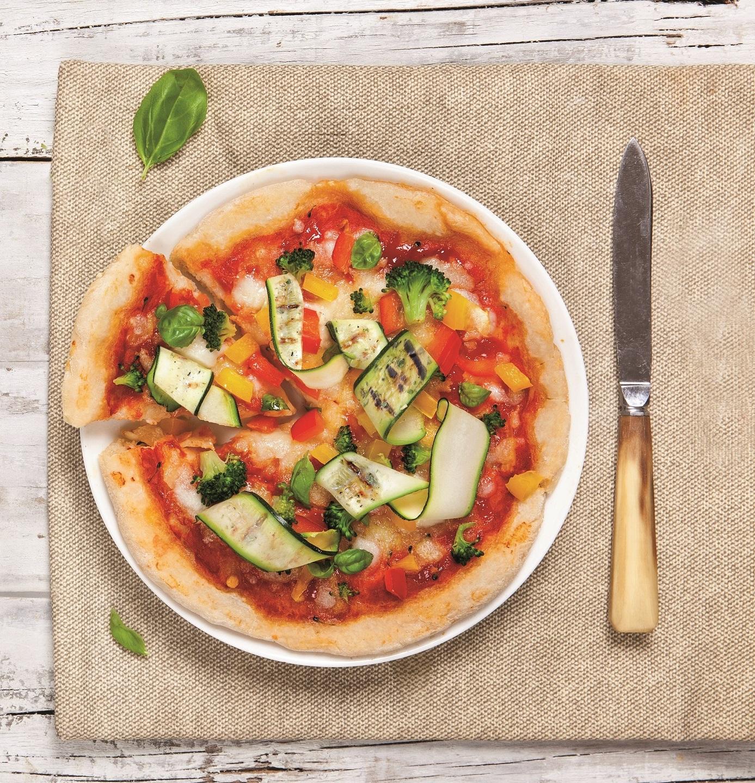 Brezglutenska zelenjavna pica