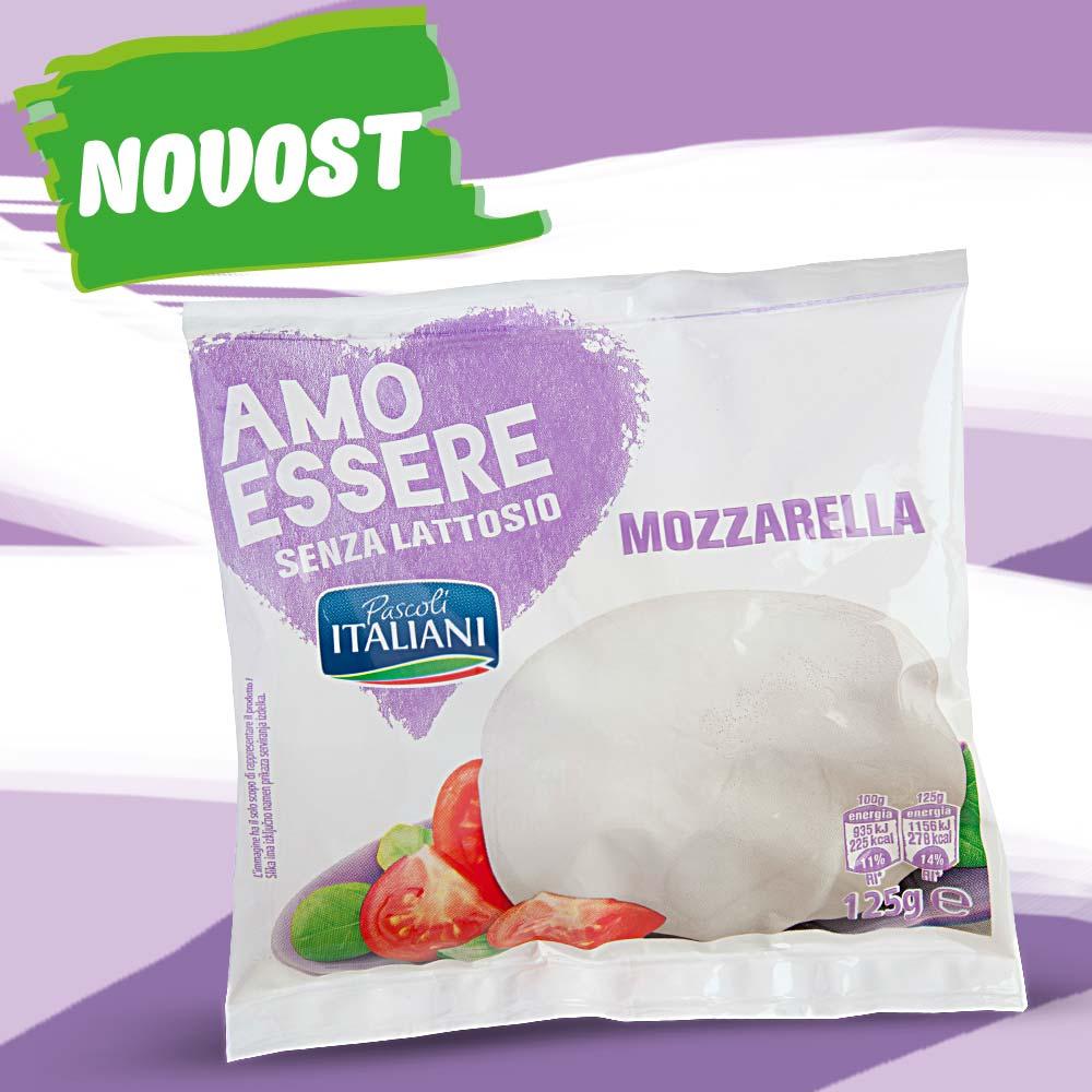 Mozzarella brez laktoze, 125 g