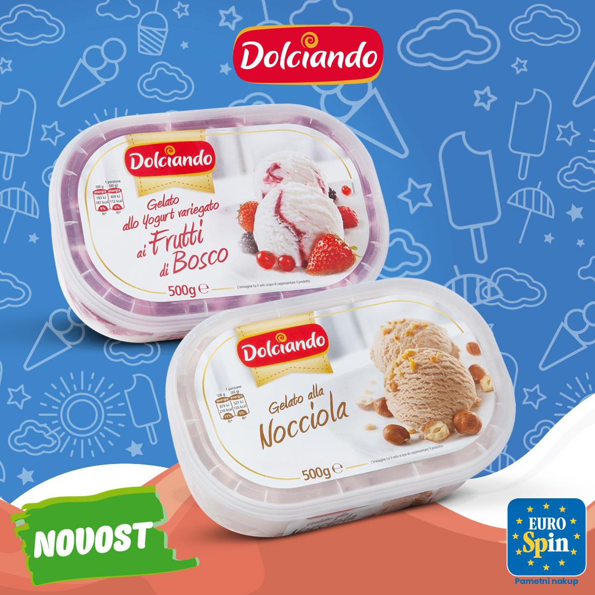 Sladoled v banjici, DOLCIANDO, 500 g